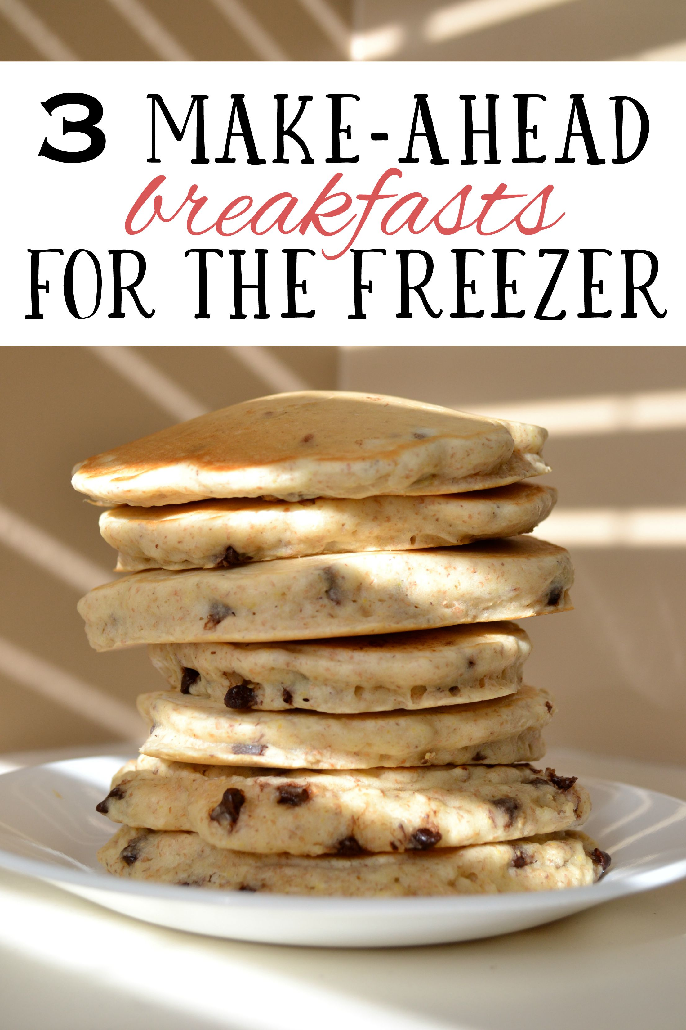 Your weekday mornings will be MUCH easier if you make large batches of these 3 simple and nutritious breakfasts, and storing them in the freezer.