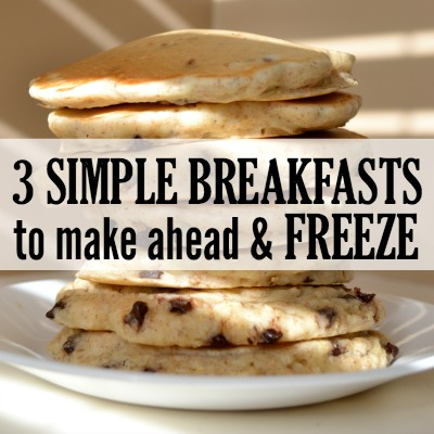 Make Ahead Breakfasts to Freeze
