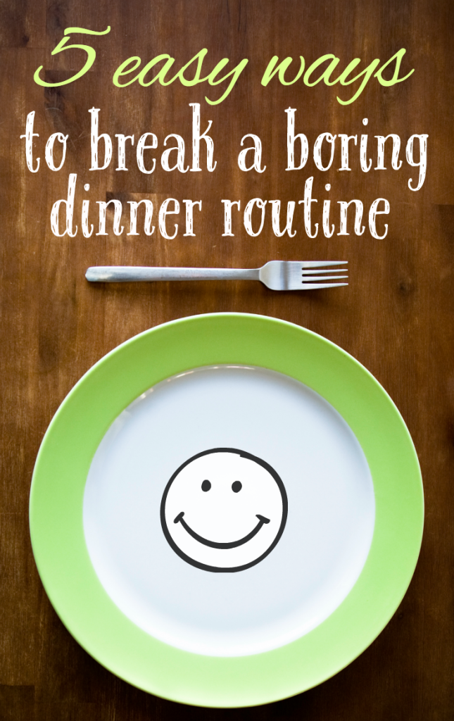 If you find yourself serving the same meals over and over again, click through to read about 5 simple things you can do to bring a little excitement back into your dinner routine!