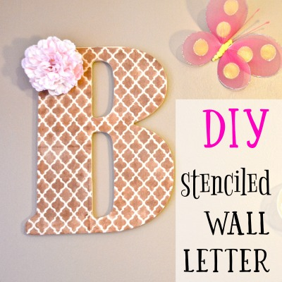 Stenciled Wooden Wall Letter: Simple DIY