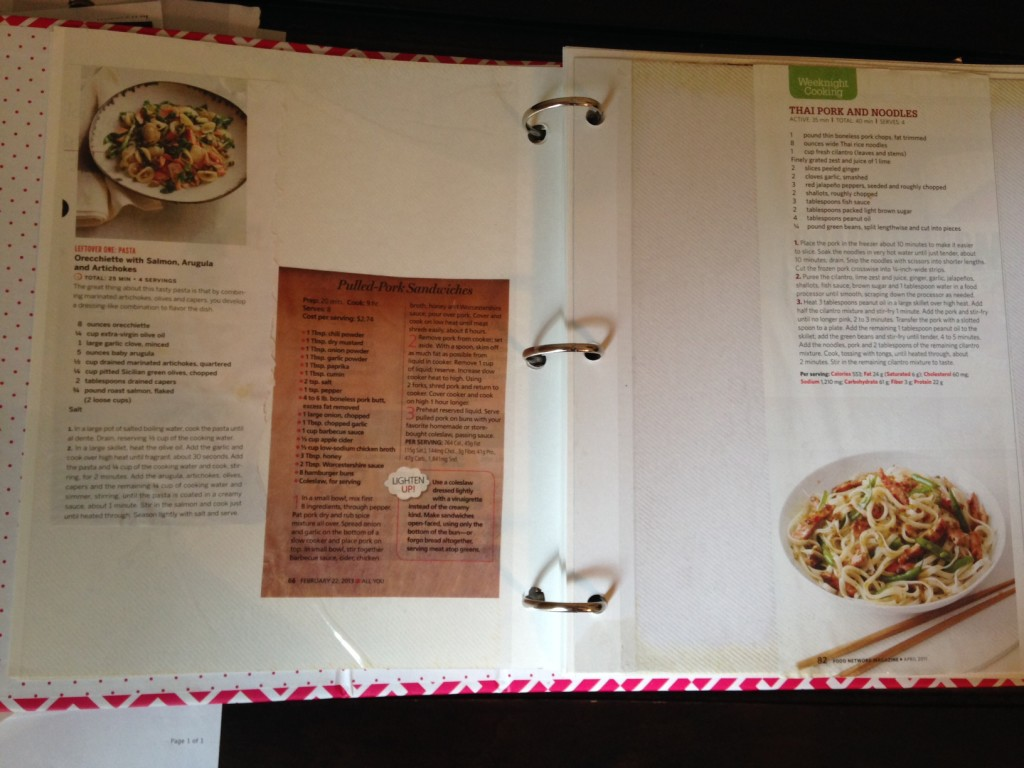 Use a simple photo album to preserve and display your favorite recipes