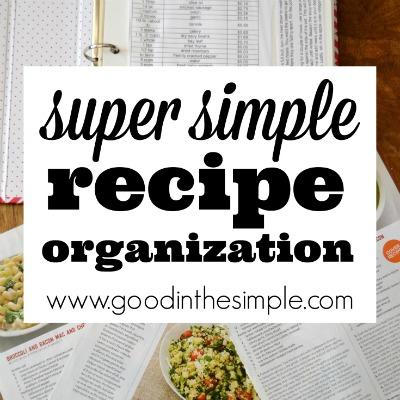 Easy Recipe Organization Idea