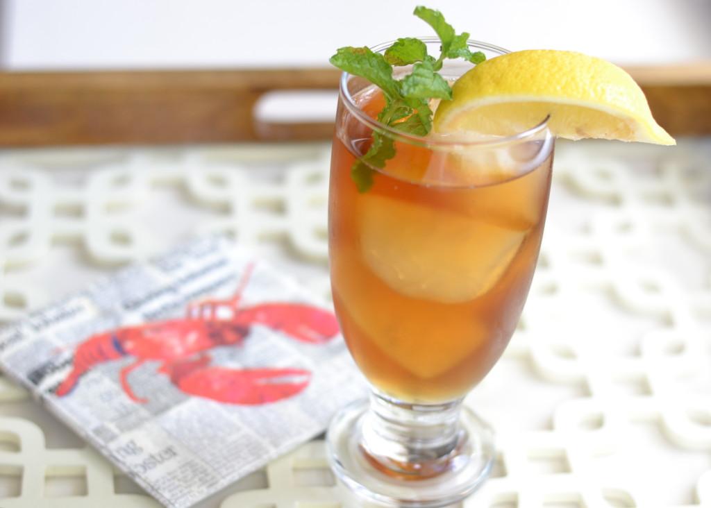 Simple Summer Cocktail: Sweetened iced tea and peach vodka