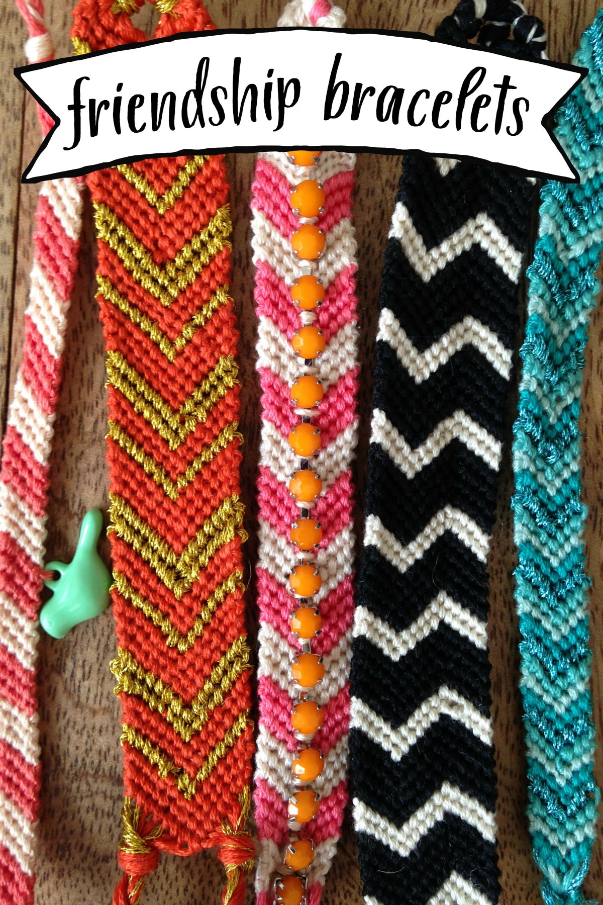 DIY tutorial for friendship bracelets for adults