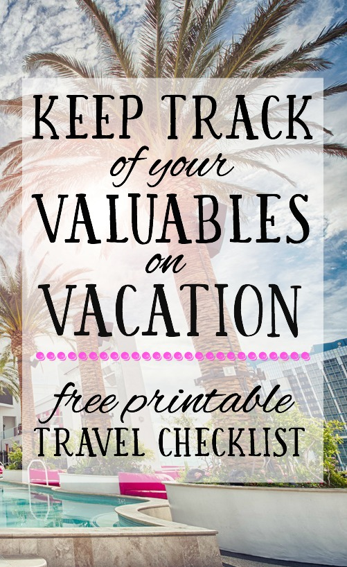 There's nothing worse than leaving something valuable behind in a hotel or rental when you're on vacation. This printable travel checklist will help you ensure that it never happens to you!