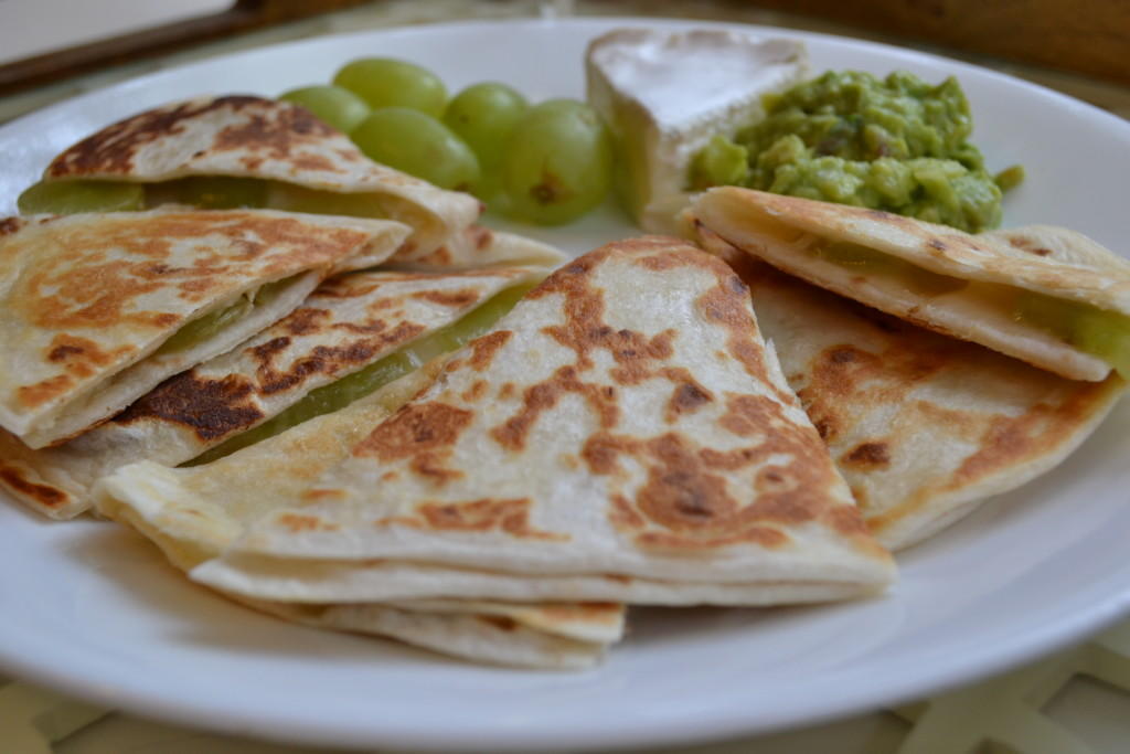 brie & grape quesadillas from www.goodinthesimple.com