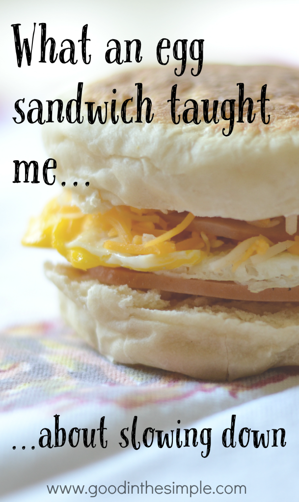 While attempting to make a 3-minute egg sandwich, I learned that a 5-minute egg sandwich is much, much better. Click for story and recipe.