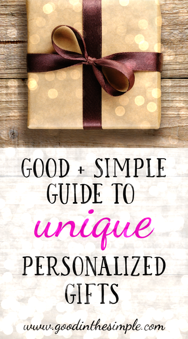 Good + Simple Gift Guide: Unique Personalized Gift Ideas