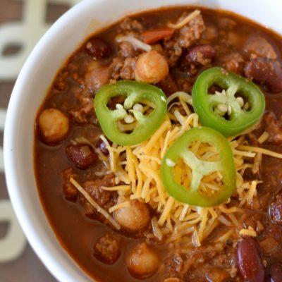 Award Winning Beef and Bean Chili