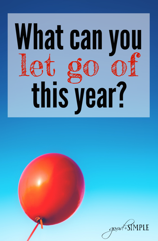 Instead of making resolutions to do even MORE in 2017, what can you do to lighten your load?
