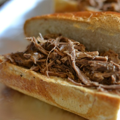 Easy Slow Cooker French Dip Sandwich