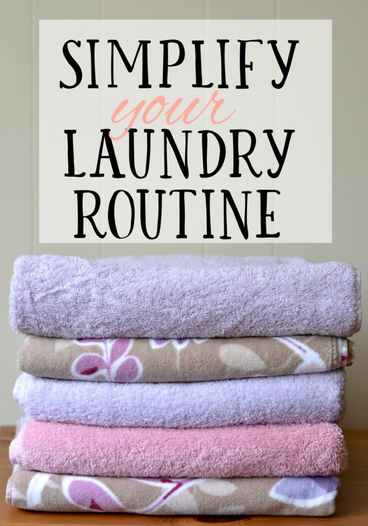Do you feel like you're always behind on laundry, or forgetting you even put laundry in the washer or dryer? This post will give you tips on setting up a simple routine that works for your family. #allfreeclear ad