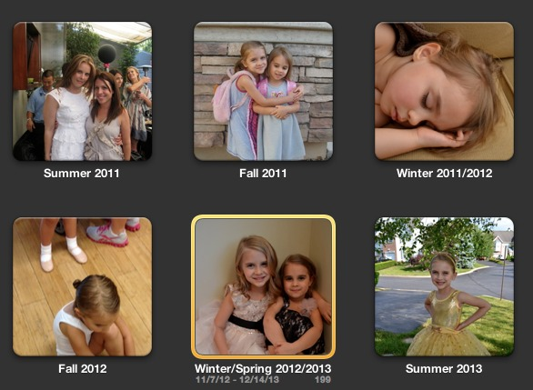iphoto categories