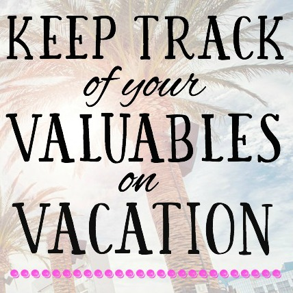 Keep Track of Your Valuables When Traveling (Printable Travel Checklist)