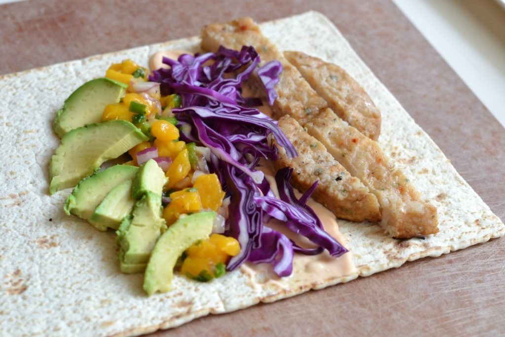 Grilled Fish Wrap With Fresh Mango Salsa Good Simple