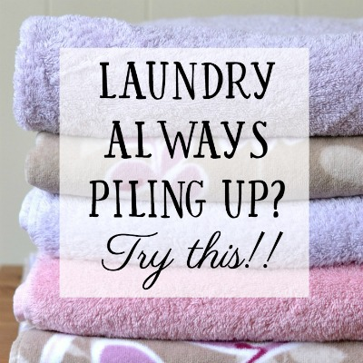 Overwhelmed by Laundry? Try this.