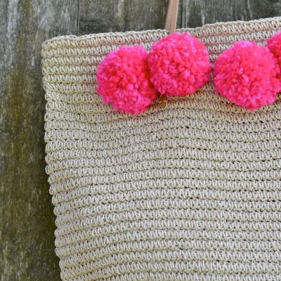 Summer DIY: Easy Pom Pom Tote