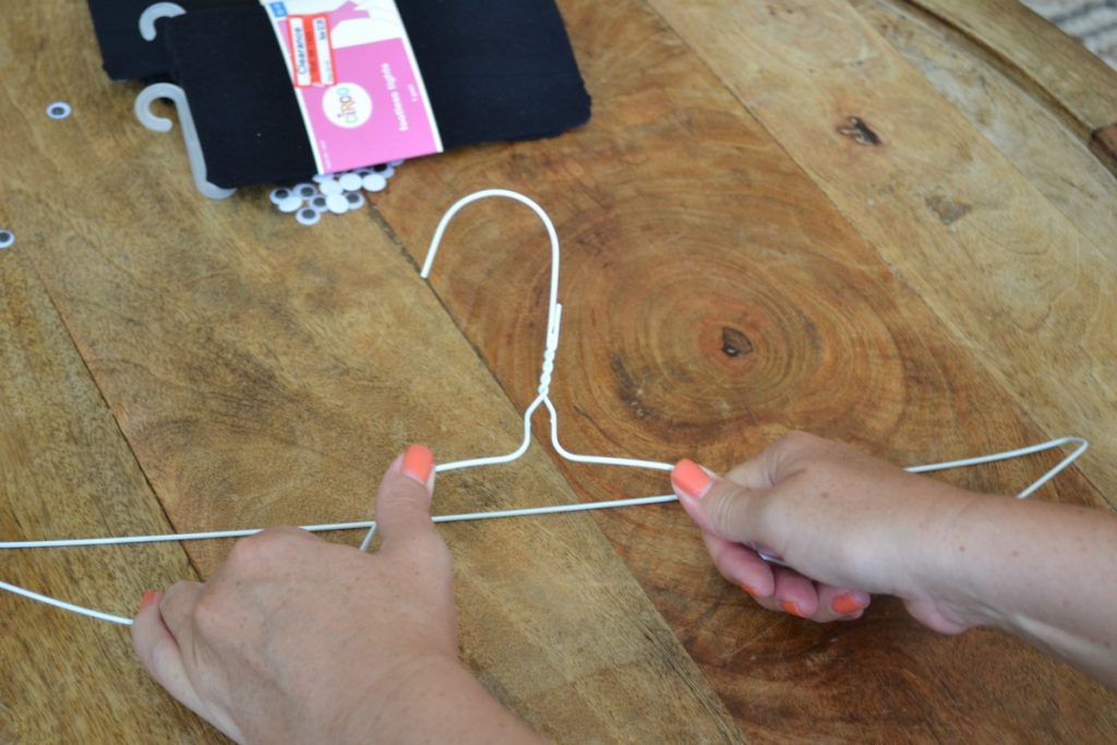 Diy Wire Hanger Bats For Halloween Good And Simple