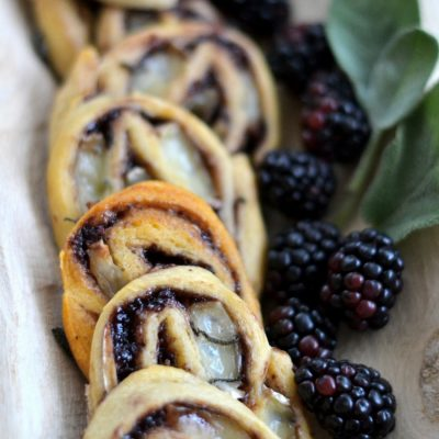 Brie, Blackberry Jam, and Sage Pinwheels
