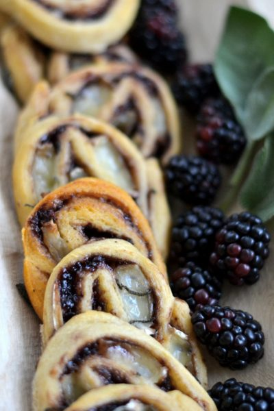 Brie Cheese, Blackberry, and Sage Appetizer