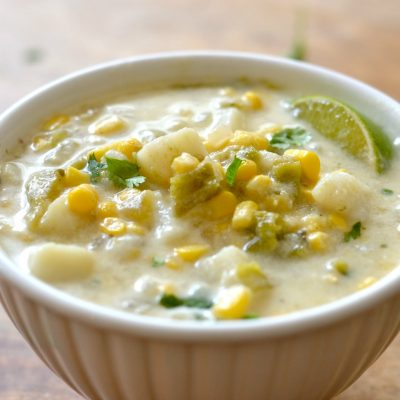 Potato, Green Chile and Corn Chowder