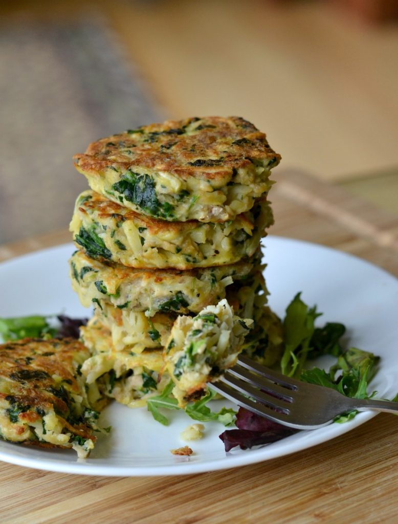 Stack of cooked salmon patties