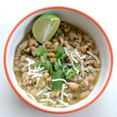 White & Green Turkey Chili