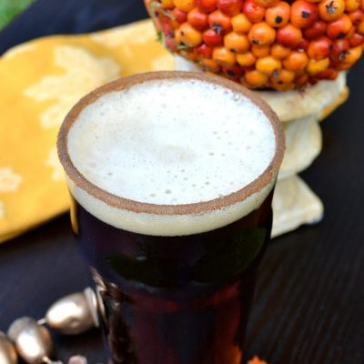 Easy Fall Pumpkin Ale Cocktail
