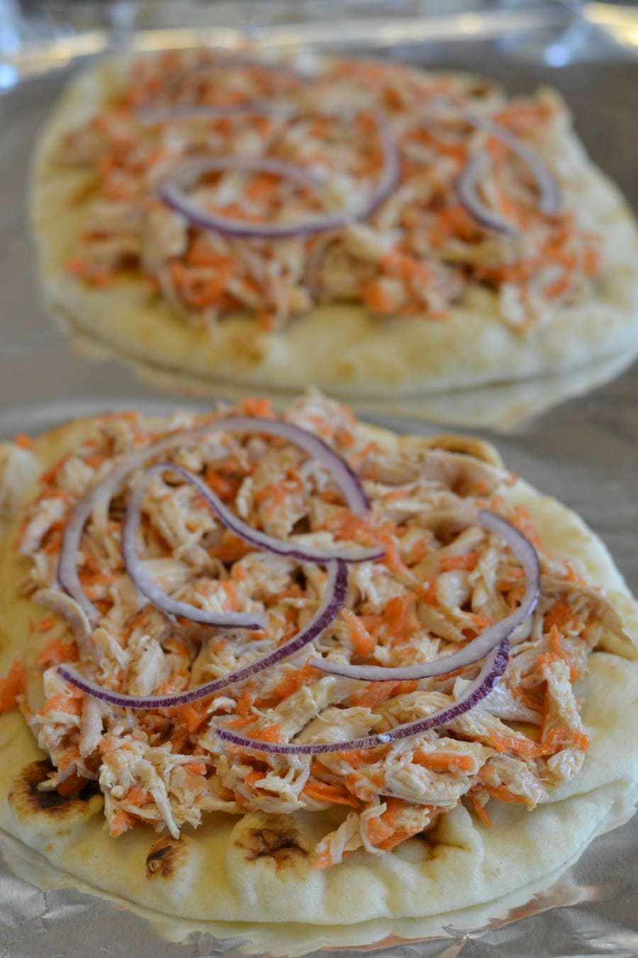 Ready to bake thai chicken flatbread