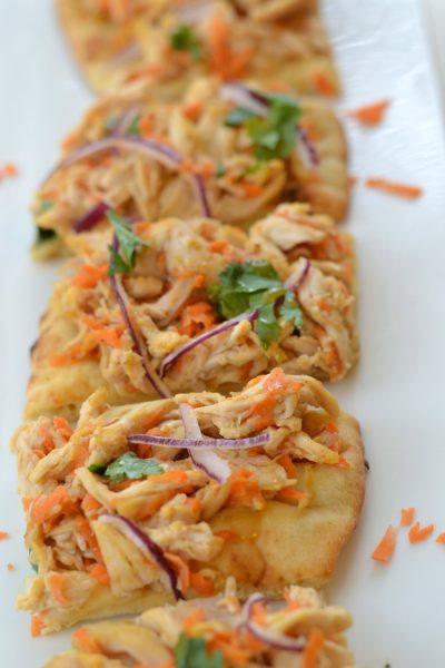 Easy Thai Chicken Flatbread