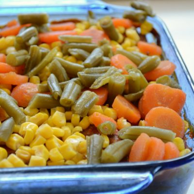 One-Dish Meatloaf, Potato and Vegetable Bake
