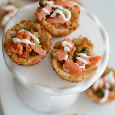 Easy Smoked Salmon Appetizer with Crispy Potatoes