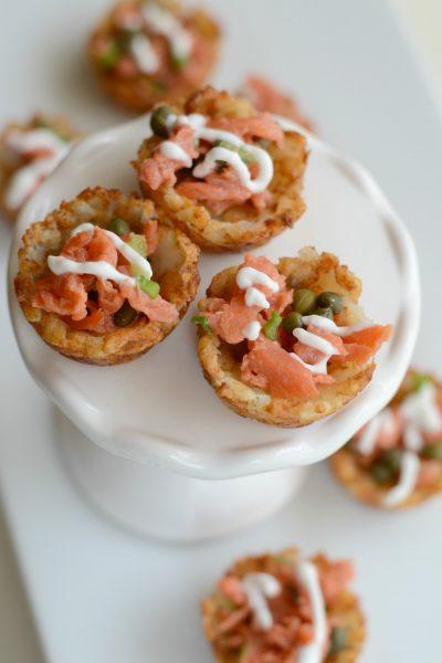 Easy Smoked Salmon Potato Bites