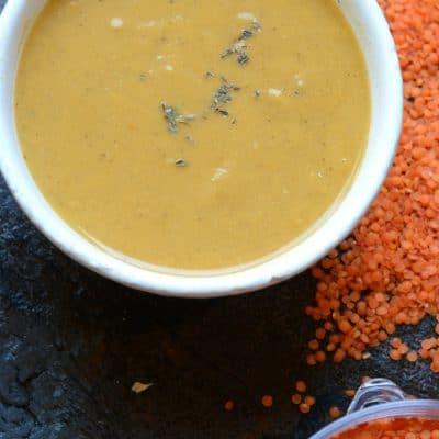 Pureed Red Lentil Soup