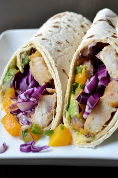 Fish Wrap Sandwich with Fresh Mango Salsa