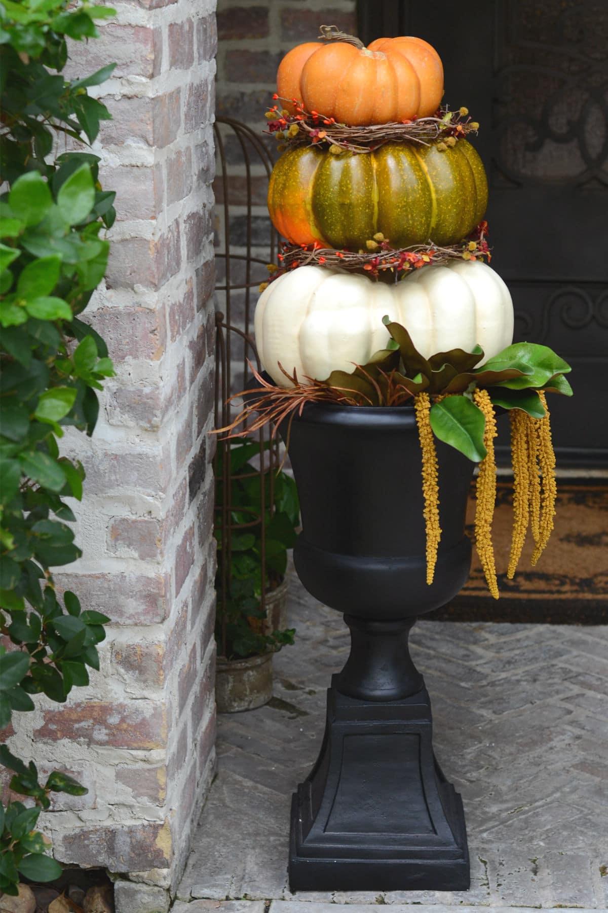 DIY Pumpkin Topiary  Good in the Simple