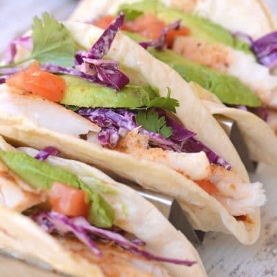 Easy Blackened Mahi Mahi Fish Tacos