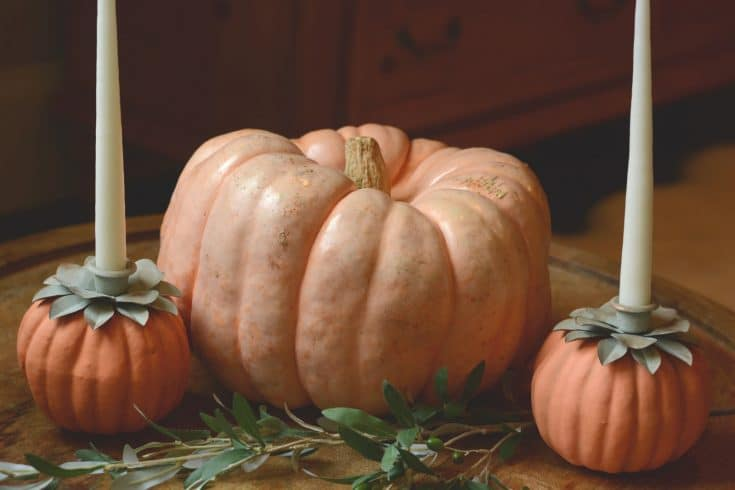 DIY Foam Pumpkin Candle Holders
