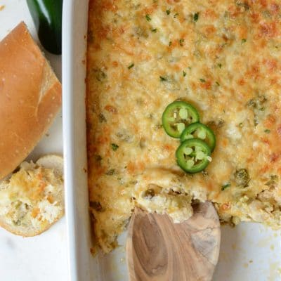 Cheesy, Spicy Crab Dip
