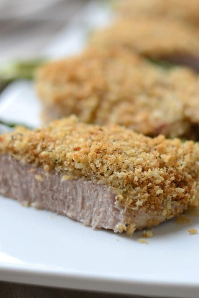 Sliced panko pork chop